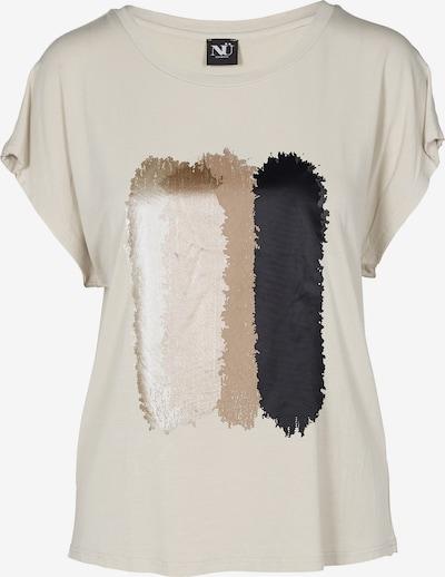 NÜ DENMARK T-Shirt 'Ganika' in nude / dunkelbeige / gold / schwarz, Produktansicht