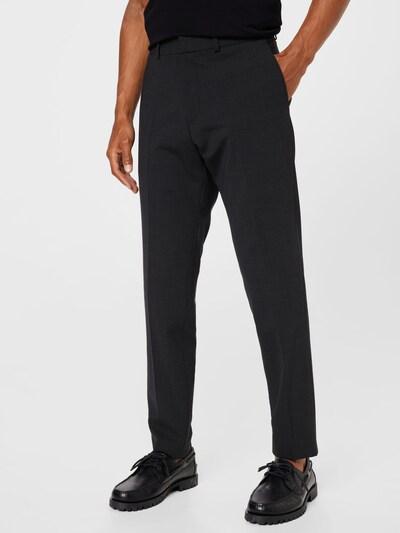 Pantaloni cu dungă s.Oliver BLACK LABEL pe gri fumuriu / negru, Vizualizare model