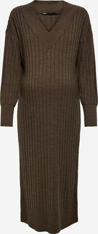 Only Maternity Gebreide jurk in Bruin
