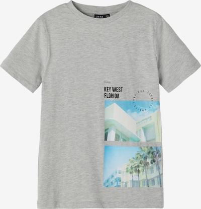 LMTD T-Shirt 'Hye' en beige / bleu clair / jaune clair / gris chiné / noir, Vue avec produit