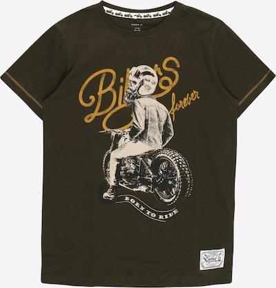 NAME IT T-Shirt 'BIKERS' en moutarde / olive / blanc chiné, Vue avec produit