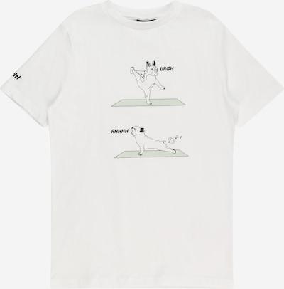 LMTD T-Shirt en vert pastel / noir / blanc, Vue avec produit