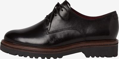 TAMARIS Chaussure à lacets en noir: Vue de face