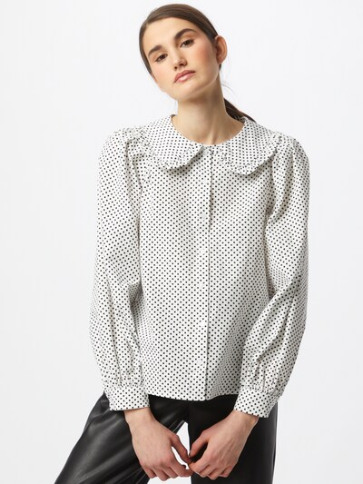 ICHI Blouse 'NILLA' in Cream / Black, View model