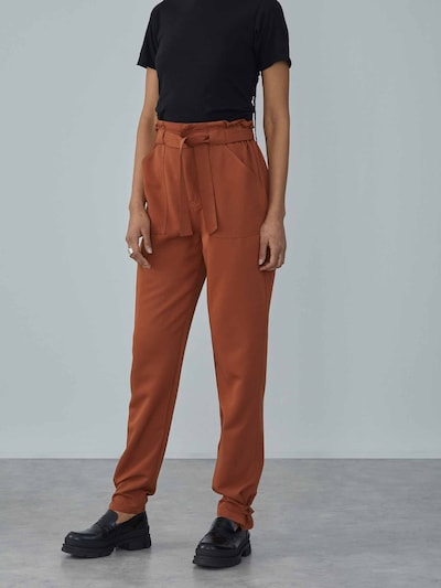 LeGer by Lena Gercke Trousers 'Victoria' in Brown / Auburn, View model