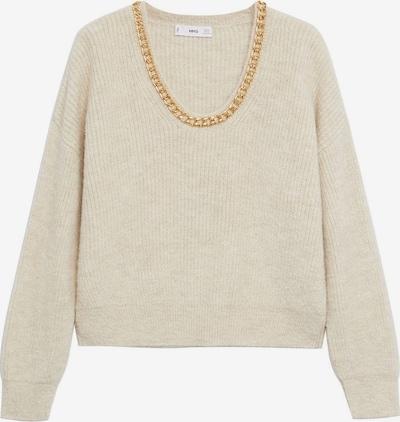 MANGO Pullover 'Cadeneta' in beige / gold, Produktansicht