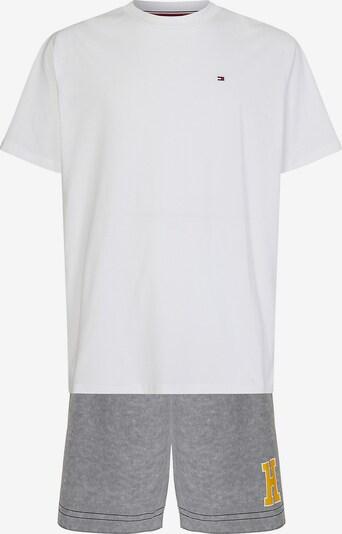 TOMMY HILFIGER Pyjama kort in de kleur Grijs / Wit, Productweergave