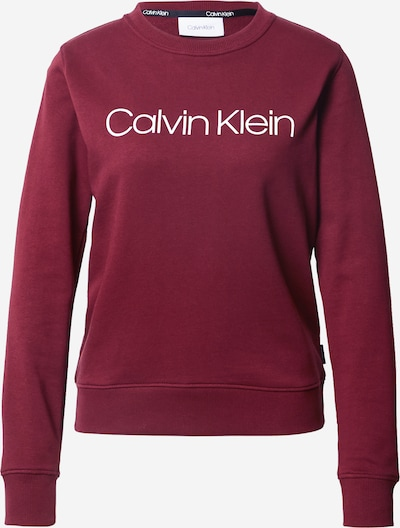 Calvin Klein Mikina - vínově červená / bílá, Produkt