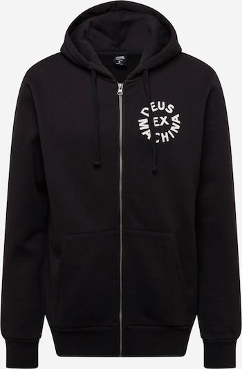 DEUS EX MACHINA Zip-Up Hoodie in Black / White, Item view