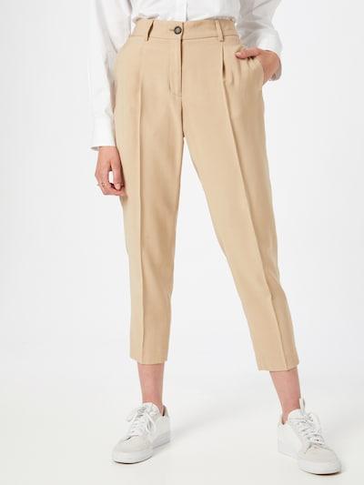 OPUS Pleat-front trousers 'Maro ST' in Light beige, View model