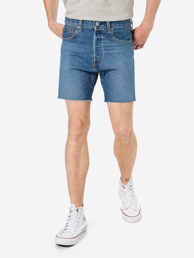 LEVI'S Jeans i blå denim, På modell