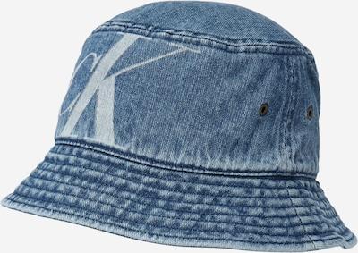 Calvin Klein Jeans Chapeaux en bleu denim / blanc, Vue avec produit