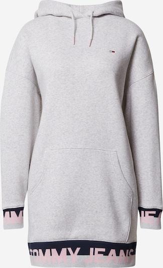 Tommy Jeans Robe en bleu marine / gris chiné / rose: Vue de face