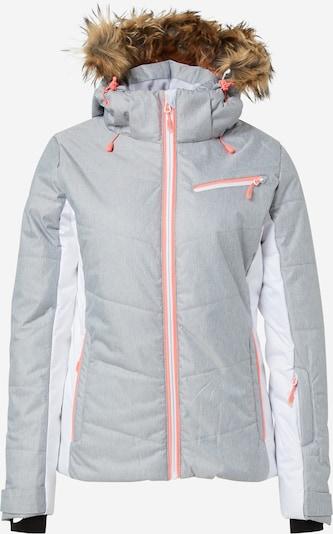 4F Sport-Jacke in graumeliert / weiß, Produktansicht