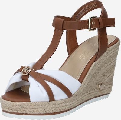 TOM TAILOR Strap sandal in Brown / White, Item view
