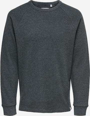Only & Sons Sweatshirt 'Boaz' in Grau