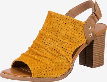 Laufsteg München Sandale in Gelb