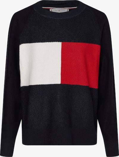 TOMMY HILFIGER Pullover i mørkeblå / rød / hvid, Produktvisning