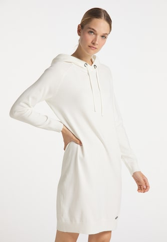 DreiMaster Maritim Gebreide jurk in Wit