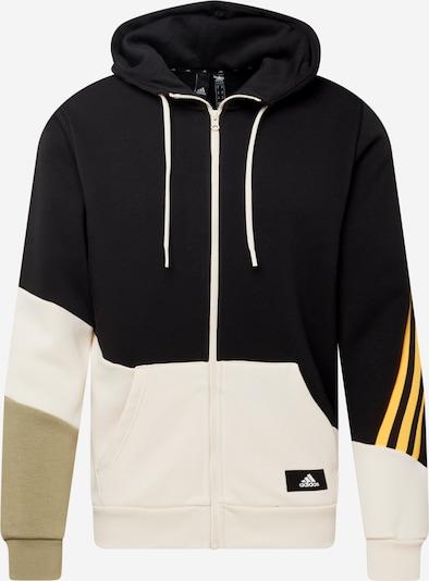 ADIDAS PERFORMANCE Sport sweatshirt i guldgul / khaki / svart / naturvit, Produktvy