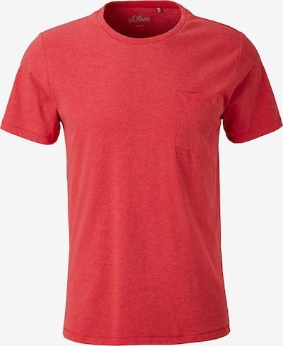 s.Oliver Shirt in de kleur Rood gemêleerd: Vooraanzicht