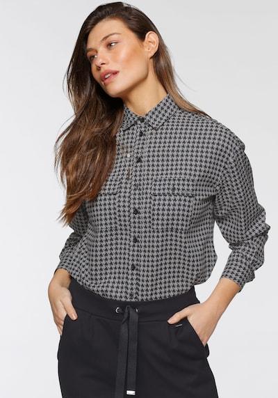 BRUNO BANANI Bluse in anthrazit / schwarz, Modelansicht