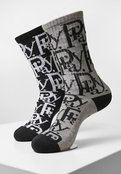 Cayler & Sons Socken 'Prayor Socks' in de kleur Grijs / Zwart / Wit, Productweergave