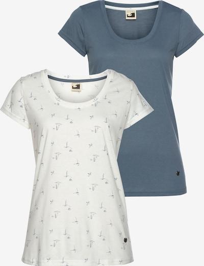 OCEAN SPORTSWEAR T-Shirt in rauchblau / offwhite, Produktansicht