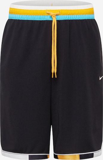 NIKE Workout Pants in Neon blue / Yellow / Black / White, Item view