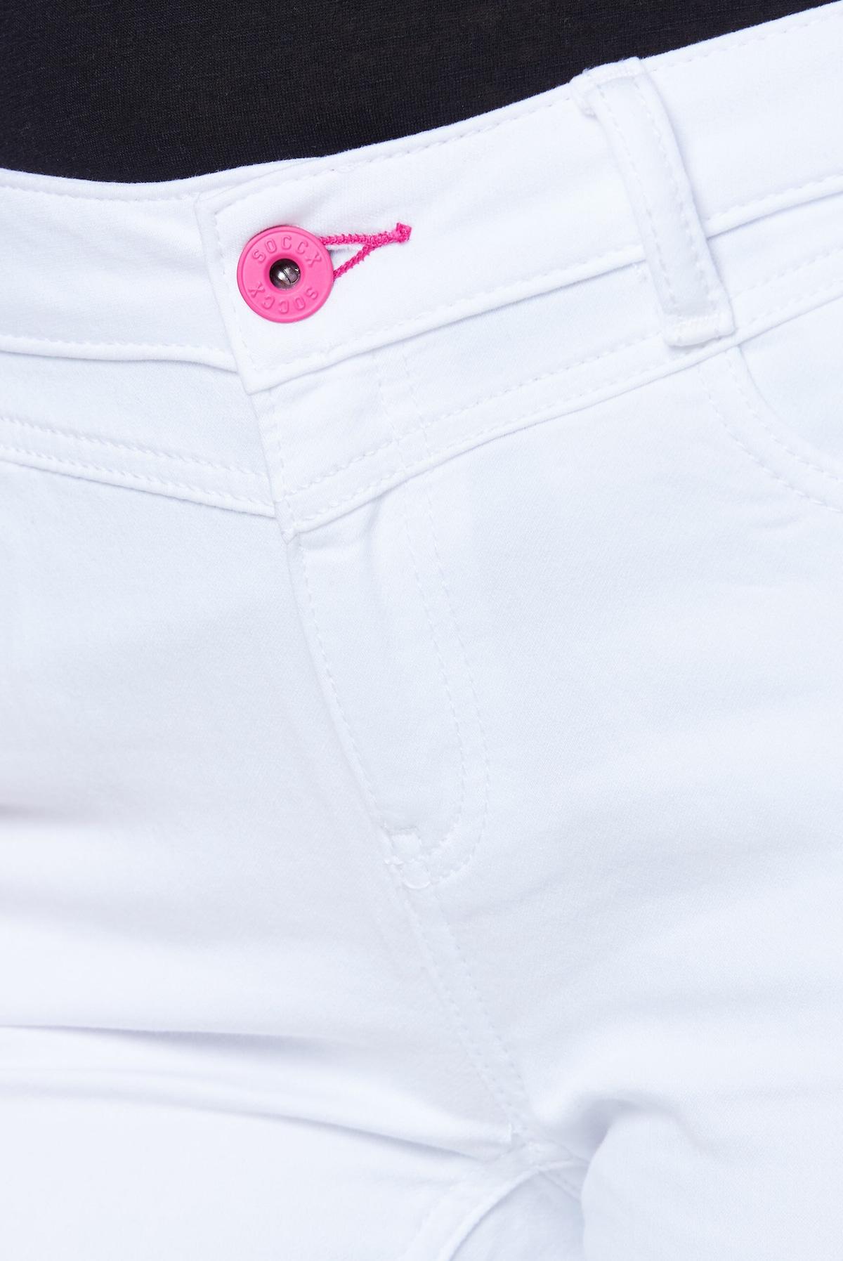 Beliebt Frauen Bekleidung Soccx Jeans in weiß Zum Verkauf