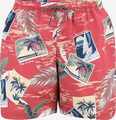 Jack & Jones Plus Zwemshorts 'BALI' in de kleur Nude / Donkerblauw / Kaki / Pitaja roze, Productweergave