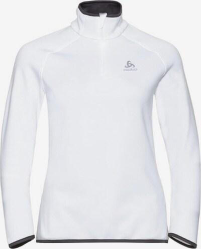 ODLO Pullover 'Midlayer 1/2 zip CARVE CERAM' in weiß, Produktansicht