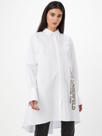 barna / fehér Karl Lagerfeld Blúz, Modell nézet