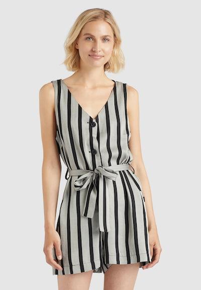 khujo Jumpsuit in grau / schwarz, Modelansicht