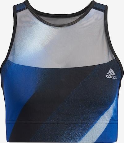 ADIDAS PERFORMANCE Sport-BH in blau / schwarz: Frontalansicht