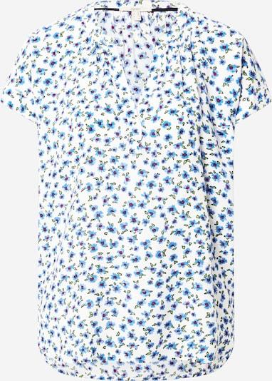 ESPRIT Bluse in blau / grün / weinrot / offwhite, Produktansicht