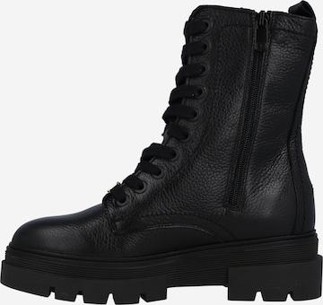 juoda TOMMY HILFIGER Suvarstomieji kulkšnis dengiantys batai