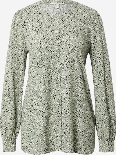 ESPRIT Bluza | kaki / črna / bela barva, Prikaz izdelka