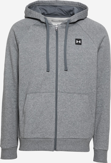 UNDER ARMOUR Urheilullinen collegetakki värissä meleerattu harmaa / musta / valkoinen, Tuotenäkymä