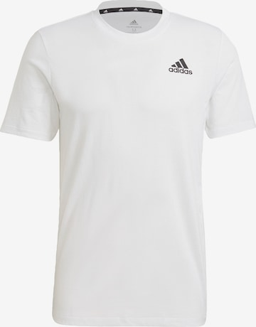 T-Shirt fonctionnel ADIDAS PERFORMANCE en blanc