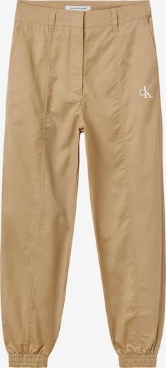 Calvin Klein Jeans Bundfaltenhose in beige / weiß, Produktansicht
