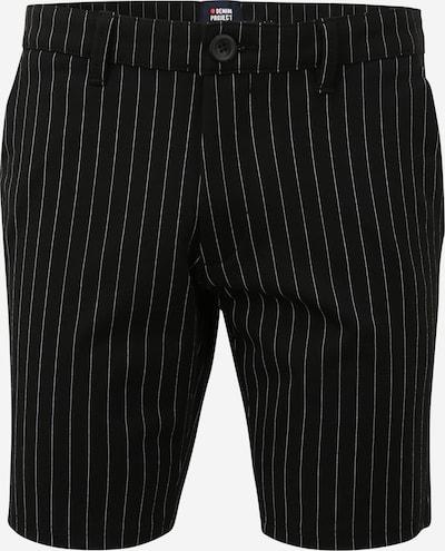 Denim Project Pantalon chino 'Ponte' en noir / blanc, Vue avec produit
