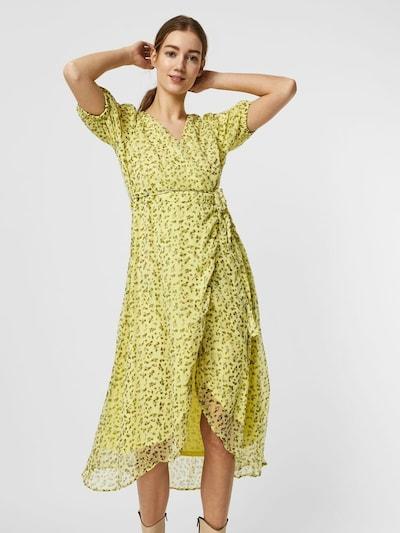 AWARE by Vero Moda Kleid in limette / dunkelgrün, Modelansicht