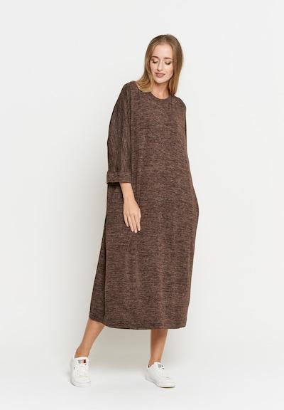 Madam-T Kleid 'Faila' in braun, Modelansicht