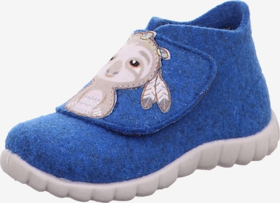 SUPERFIT Mājas apavi 'HAPPY', krāsa - zils / gaiši pelēks / melns, Preces skats