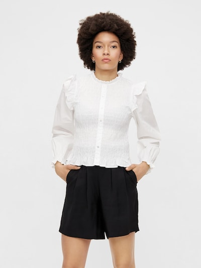 PIECES Blouse 'Vinni' in de kleur Wit, Modelweergave