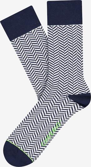 CHEERIO* Sokken 'HERRINGBONE HOMIE' in de kleur Blauw, Productweergave