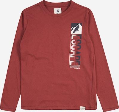 GARCIA Skjorte i mørkeblå / mørkerød / hvid: Frontvisning
