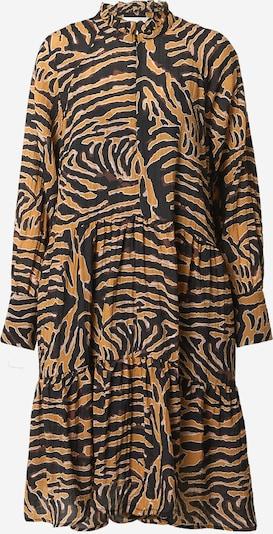 SECOND FEMALE Kleid in senf / bordeaux / schwarz / weiß, Produktansicht