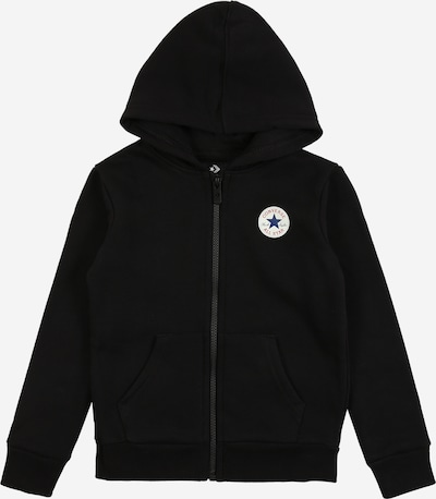 CONVERSE Sweatjacke in schwarz, Produktansicht